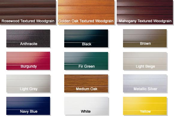 SeceuroGlide Colours and Finishes