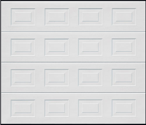Sectional Garage Door - White Georgian Small Square